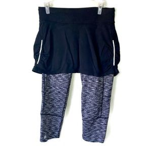 Athleta Aurora Contender 2 in 1 Capri Size Small